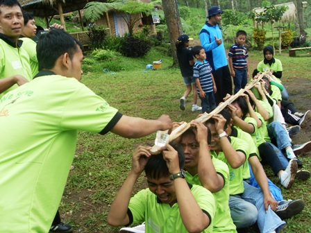 Game Outbound, Outbound di Pacet